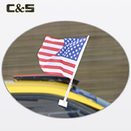 Custom USA Car Flag